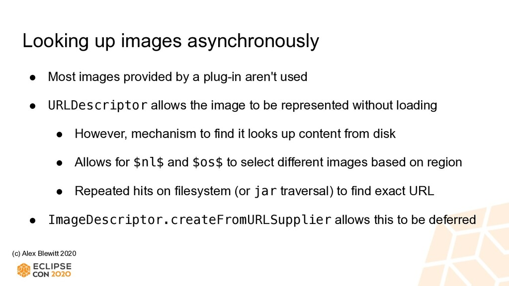 (c) Alex Blewitt 2020 Looking up images asynchr...