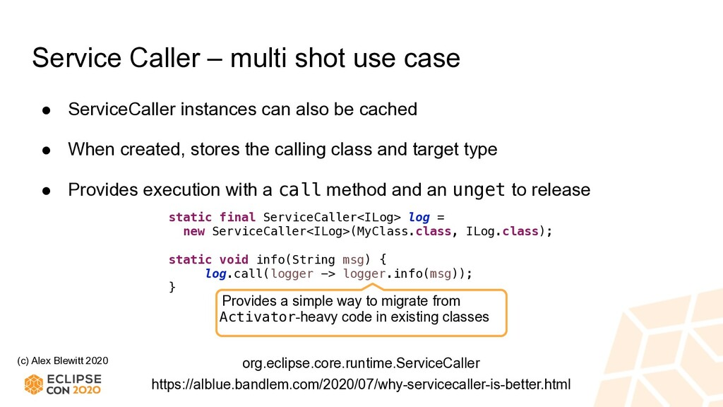 (c) Alex Blewitt 2020 Service Caller – multi sh...