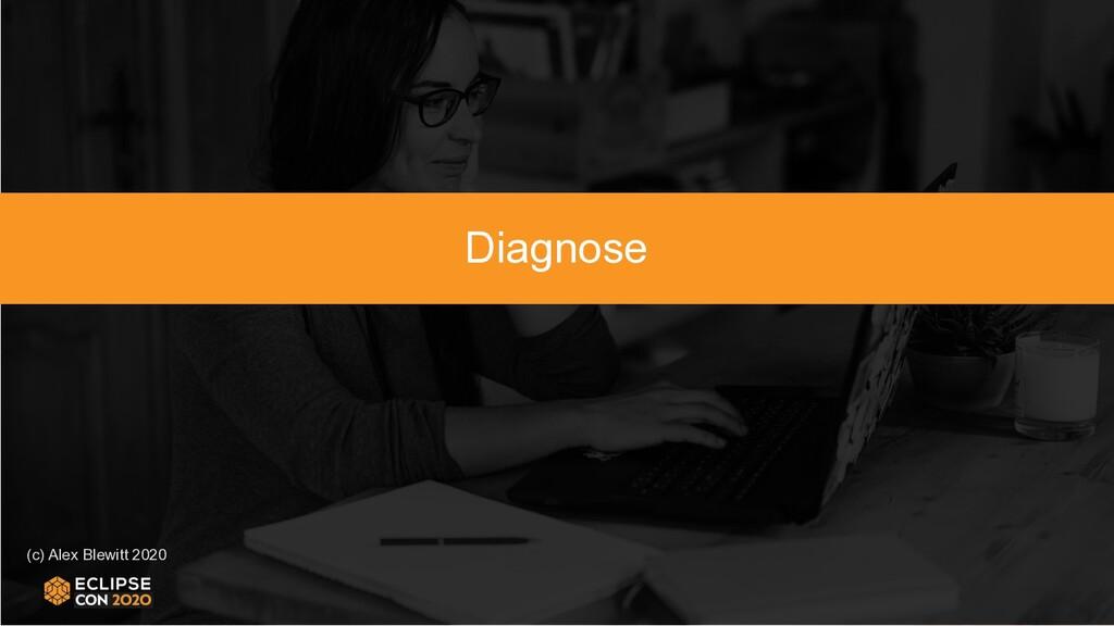 (c) Alex Blewitt 2020 Diagnose