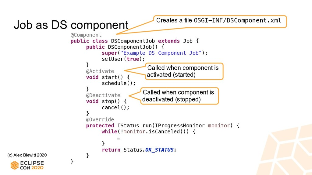 (c) Alex Blewitt 2020 Job as DS component @Comp...