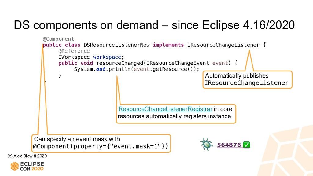 (c) Alex Blewitt 2020 DS components on demand –...