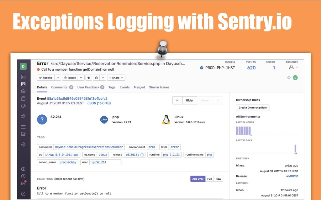 Exceptions Logging with Sentry.io