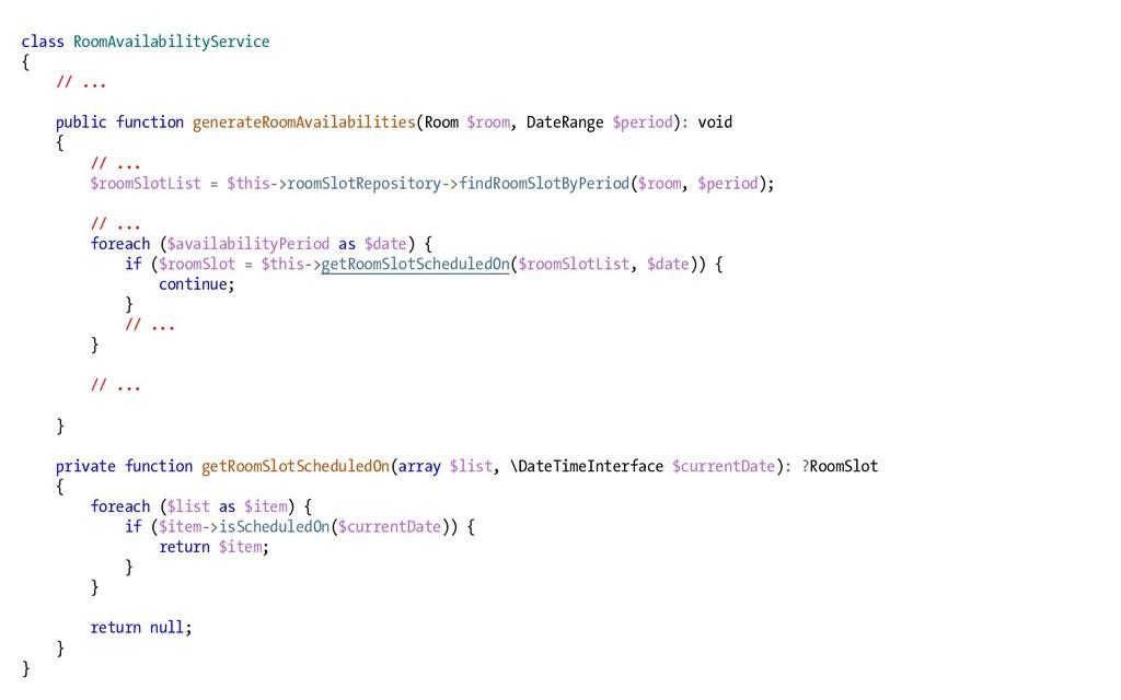 class RoomAvailabilityService { // ... public f...
