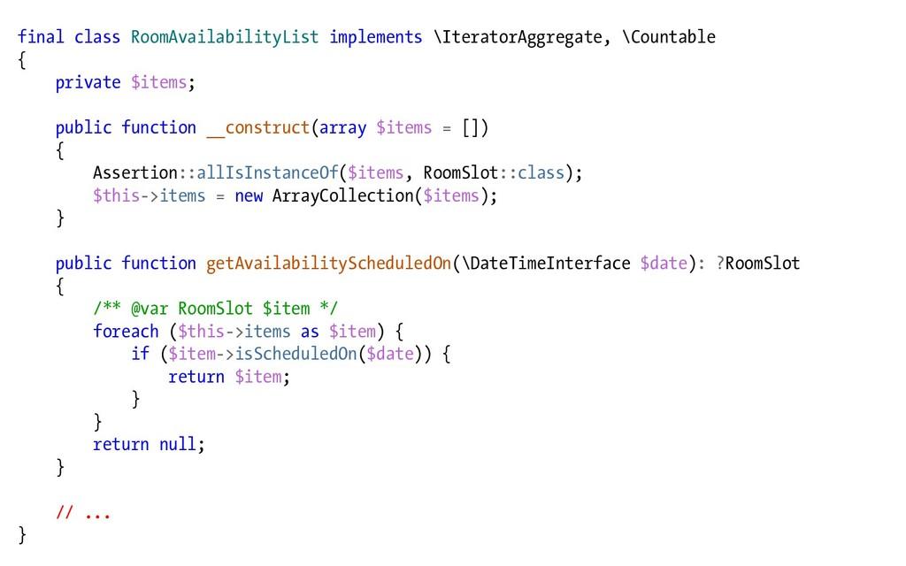 final class RoomAvailabilityList implements \It...