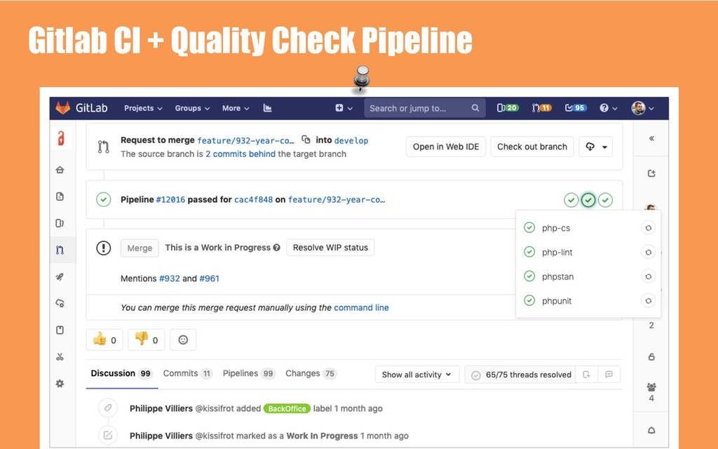 Gitlab CI + Quality Check Pipeline