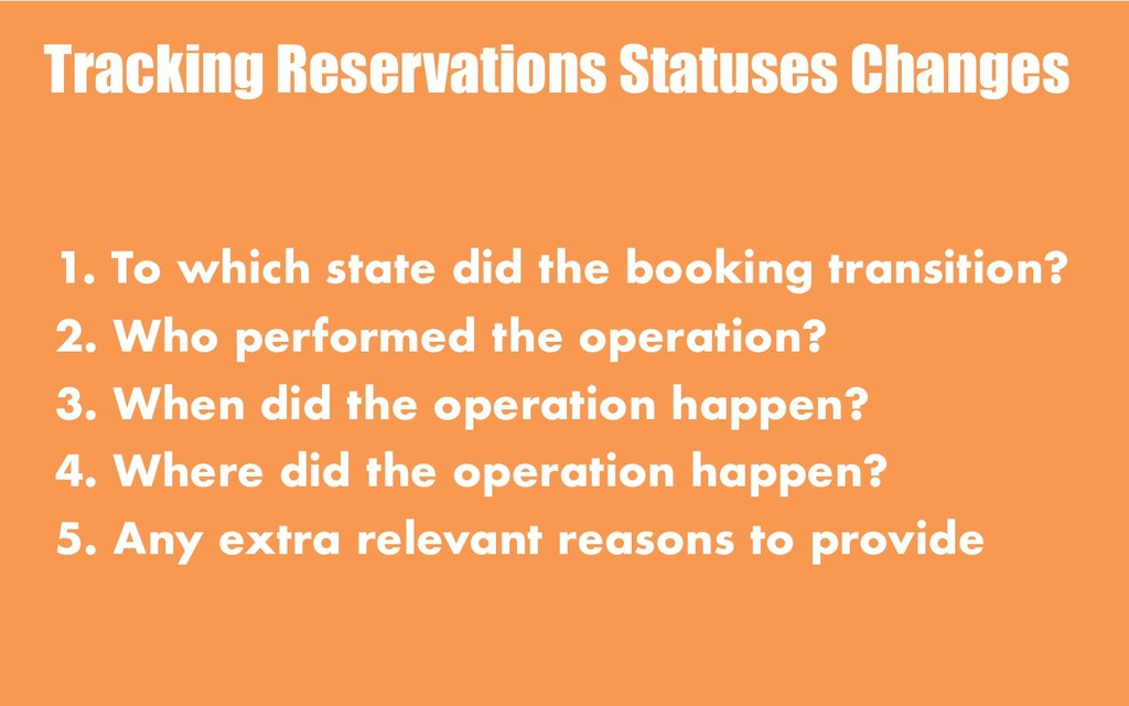 Tracking Reservations Statuses Changes 1. To wh...