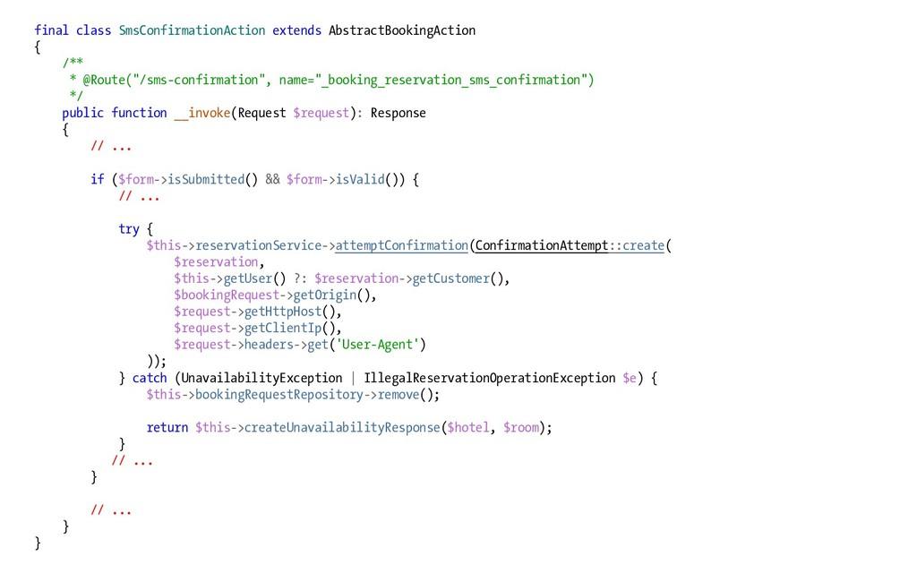 final class SmsConfirmationAction extends Abstr...