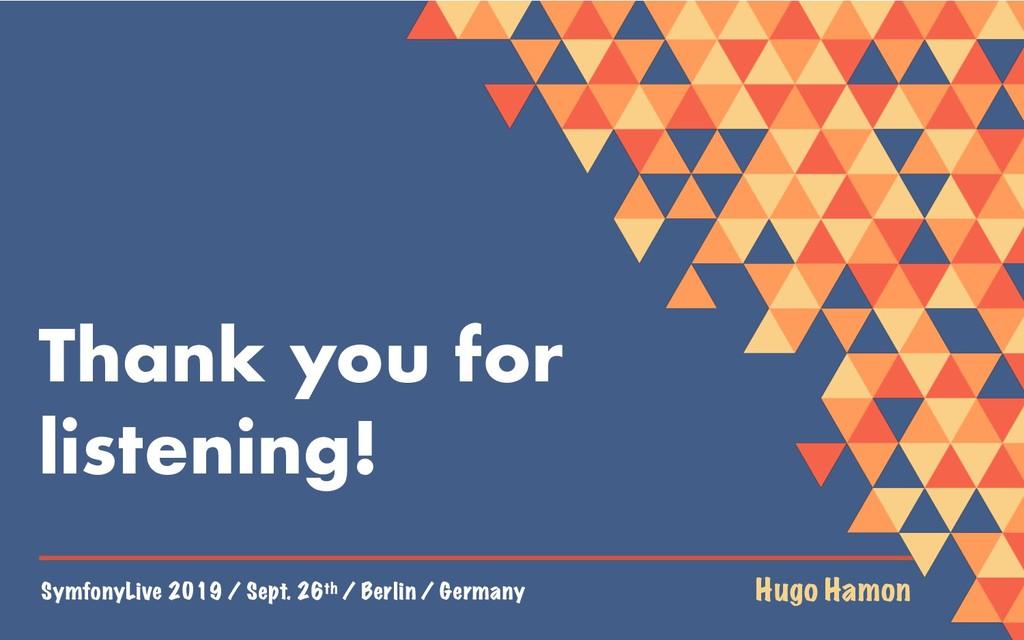 SymfonyLive 2019 / Sept. 26th / Berlin / German...