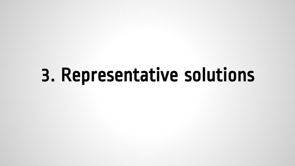 3. Representative solutions