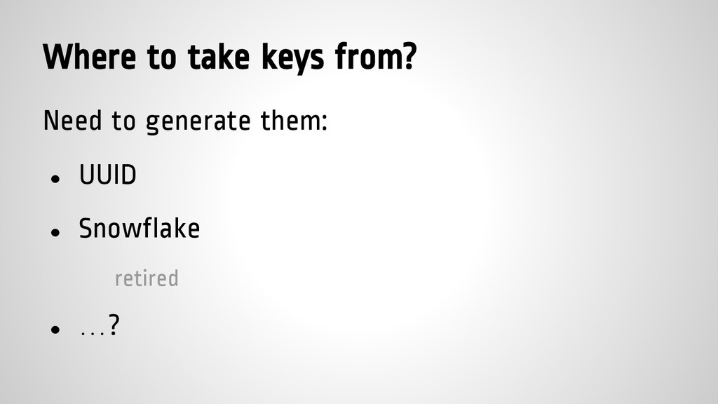 Where to take keys from? Need to generate them:...