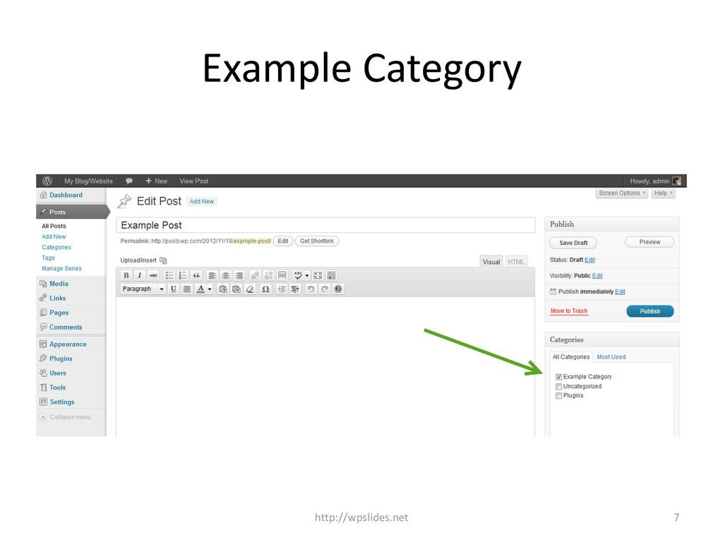 Example Category http://wpslides.net 7