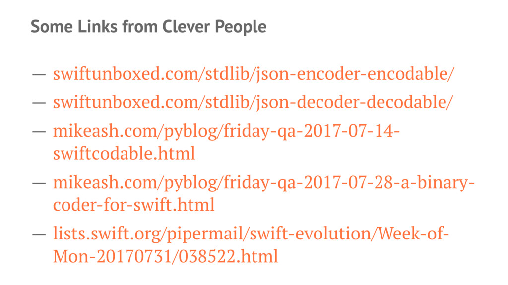 Some Links from Clever People — swiftunboxed.co...