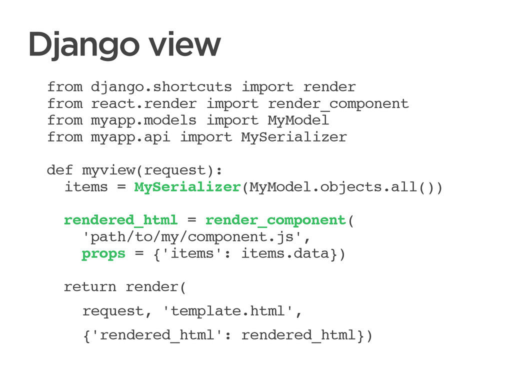 CONNECTED PERSONAL OBJECTS 5/2012 Django view f...