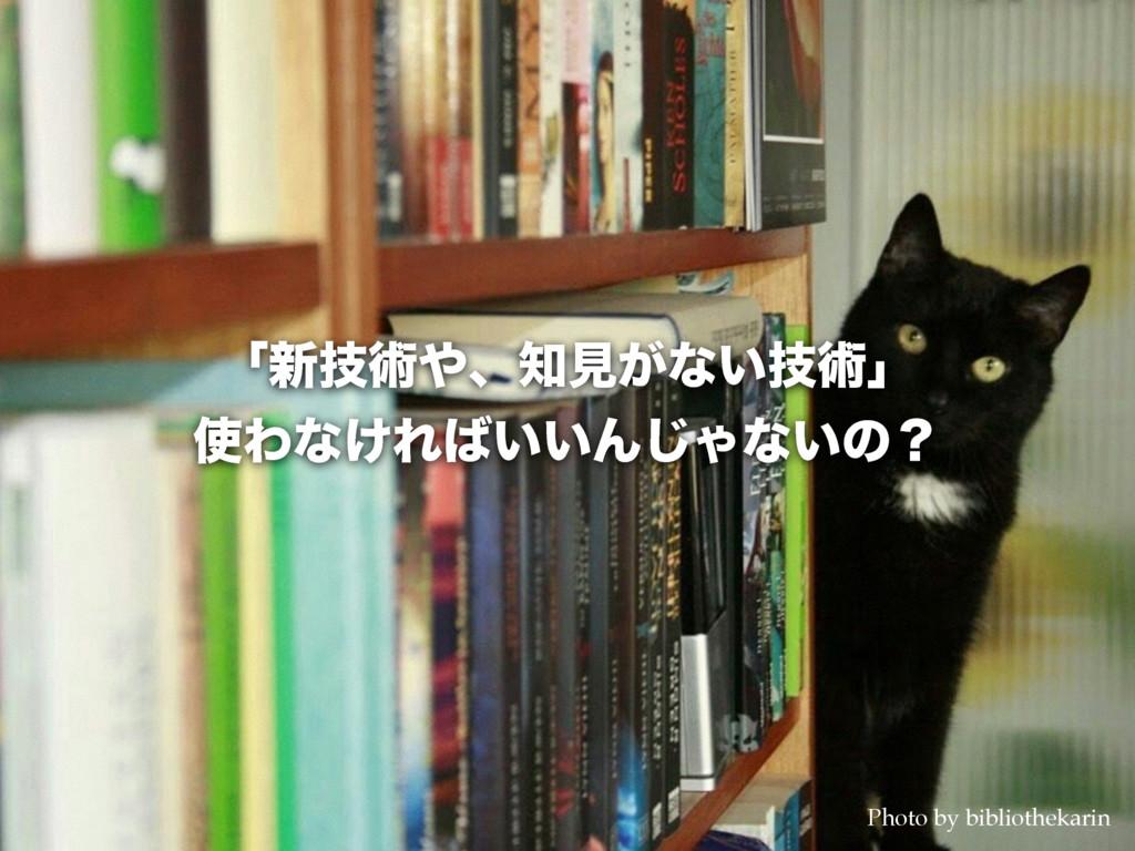 ʮ৽ٕज़ɺݟ͕ͳ͍ٕज़ʯ Θͳ͚Ε͍͍Μ͡Όͳ͍ͷʁ Photo by biblio...