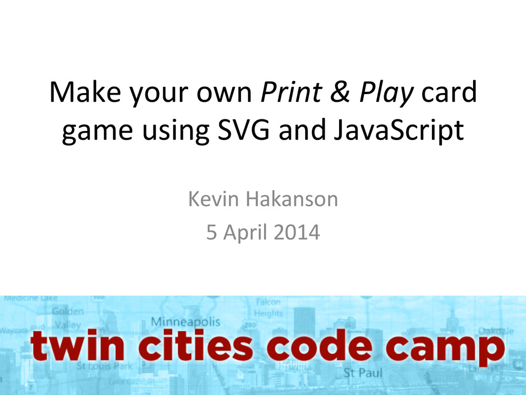 Make your own Print & Play ca...