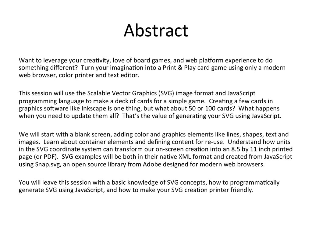 Abstract  Want to leverage your ...