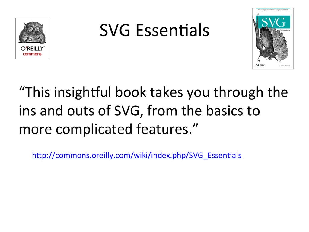 "SVG EssenDals  ""This insighGul book..."