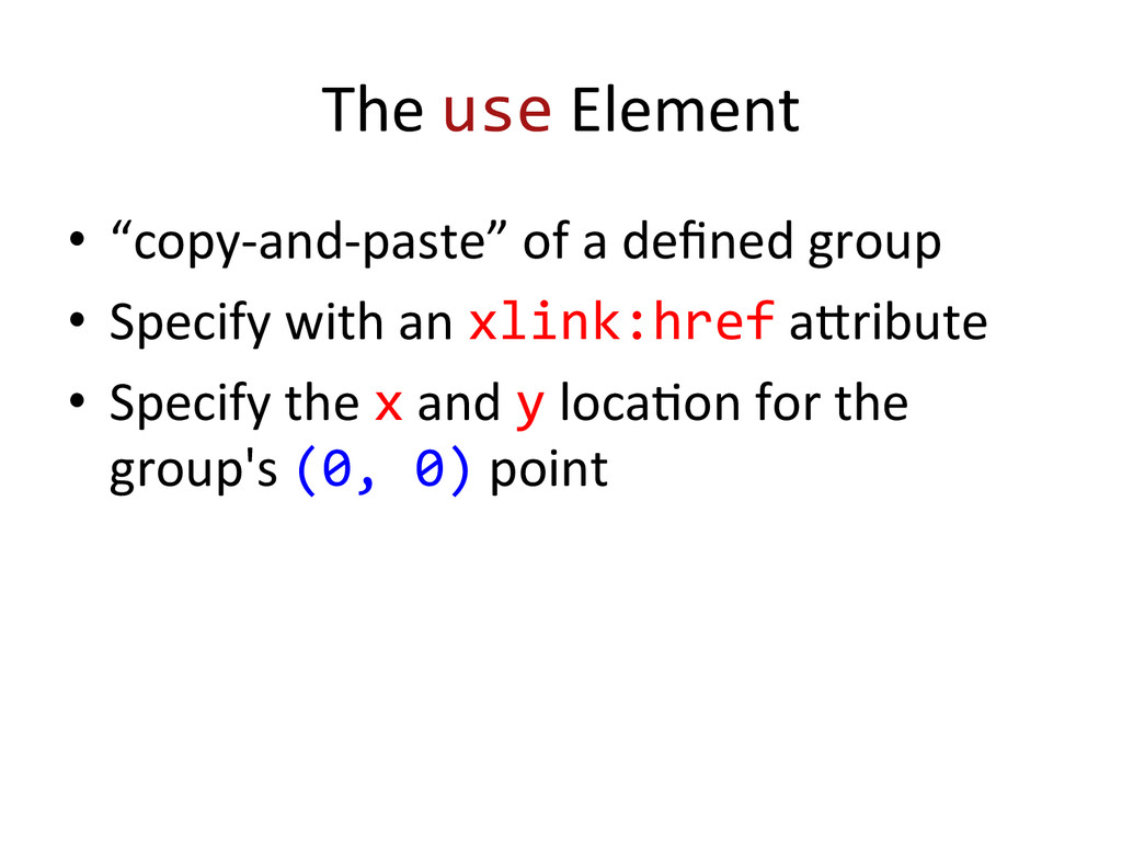 """The use Element  • """"copy-‐and-‐past..."""