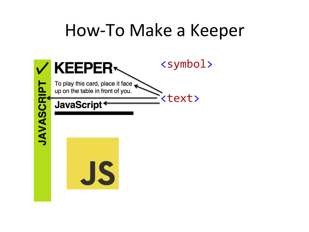 How-‐To Make a Keeper  <symbol> ...