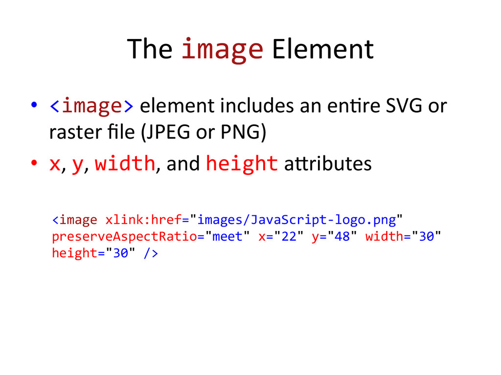 The image Element  • <image> eleme...