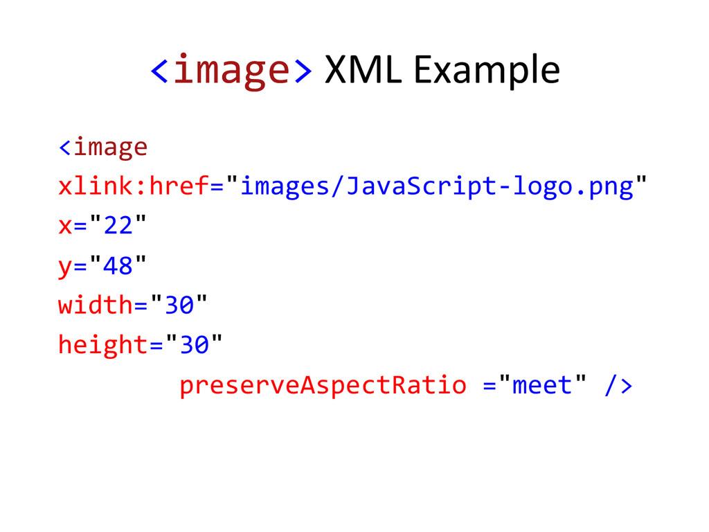 <image> XML Example   <image  ...