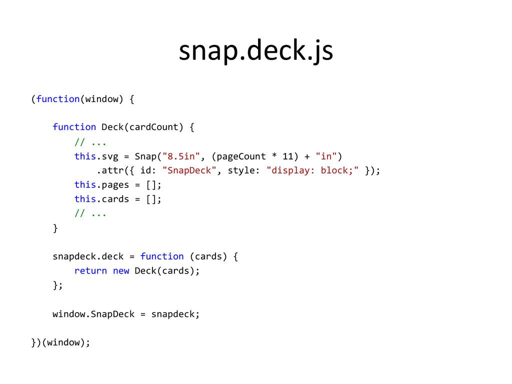 snap.deck.js  (function(window) {   ...