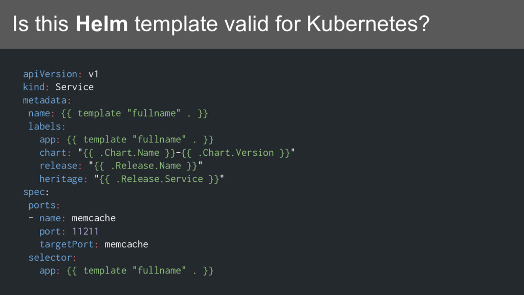 Is this Helm template valid for Kubernetes? api...