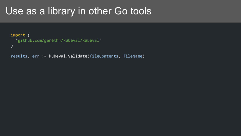 "Use as a library in other Go tools import ( ""gi..."
