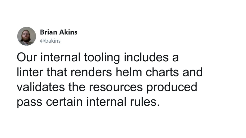 Our internal tooling includes a linter that ren...