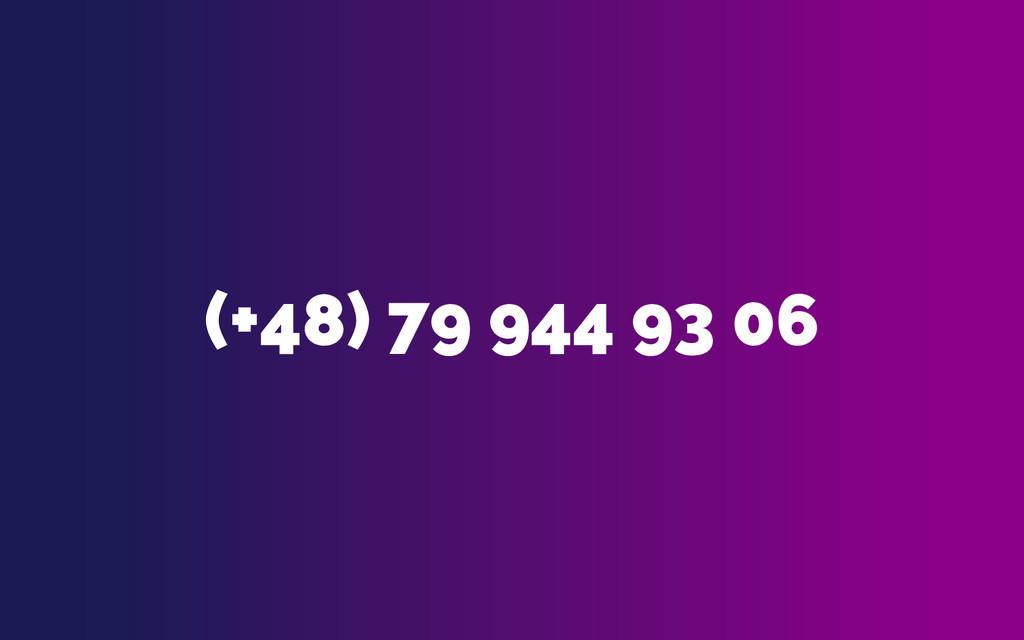 (+48) 79 944 93 06