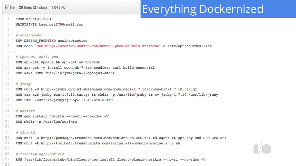 Everything Dockernized