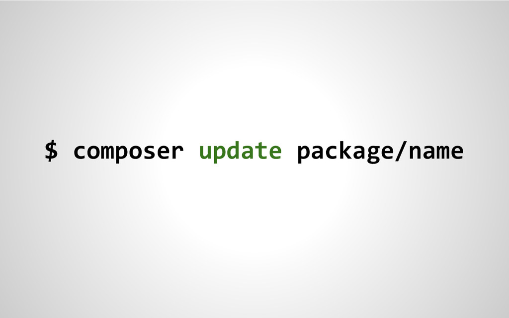 $ composer update package/name