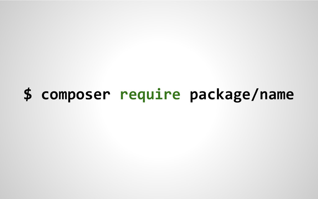 $ composer require package/name