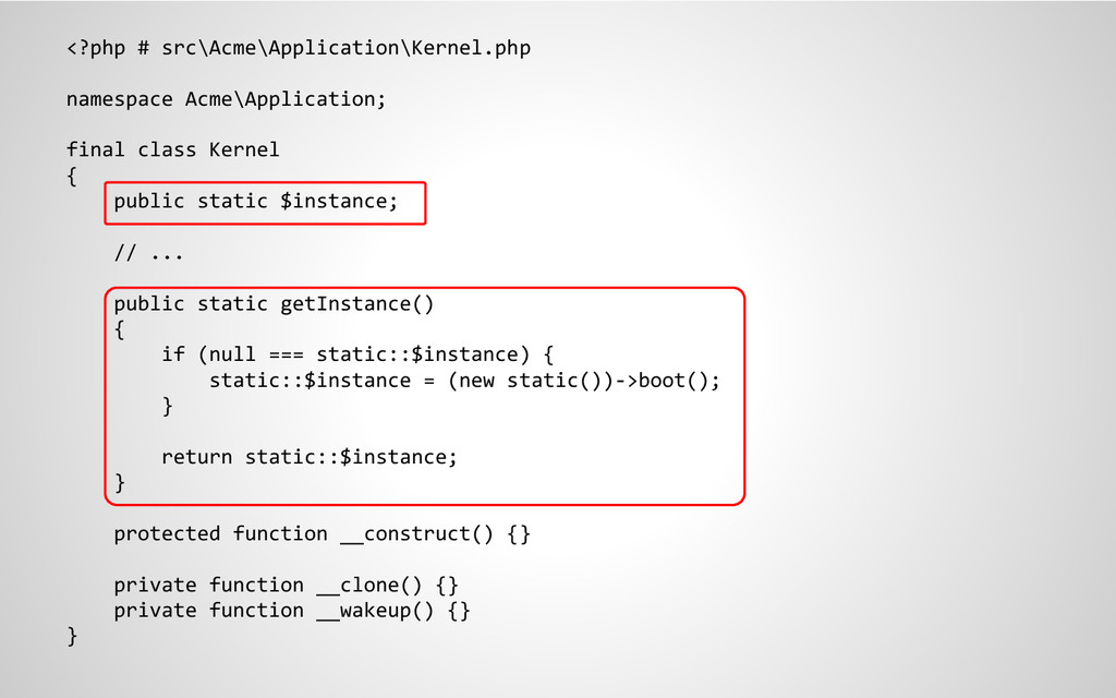 <?php # src\Acme\Application\Kernel.php namespa...