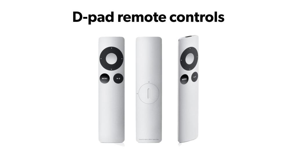 D-pad remote controls