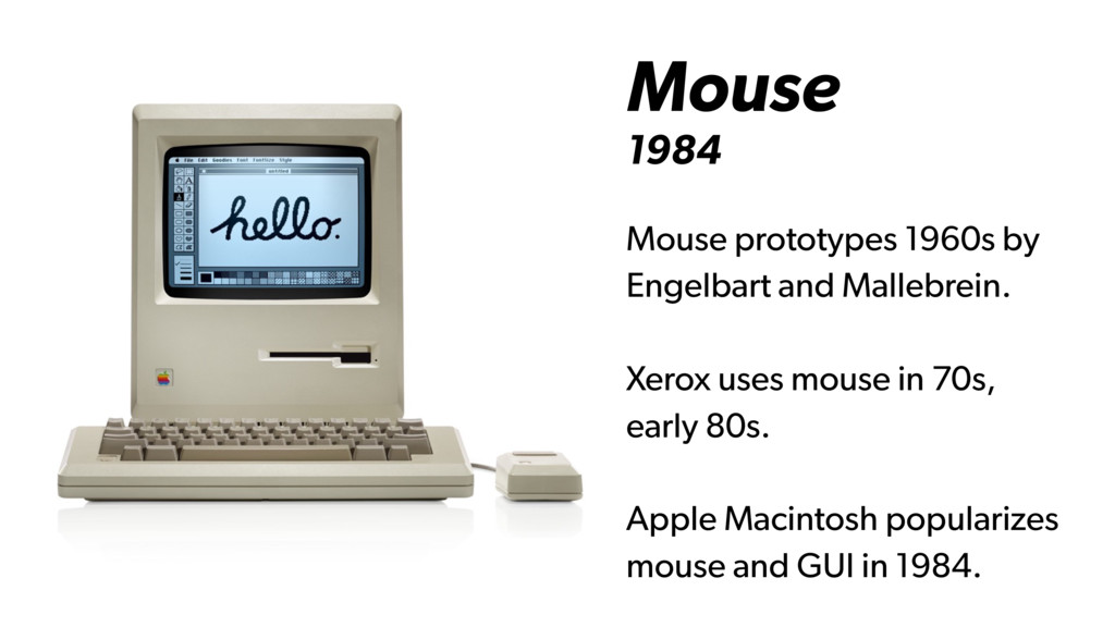 Mouse 1984 Mouse prototypes 1960s by Engelbart ...