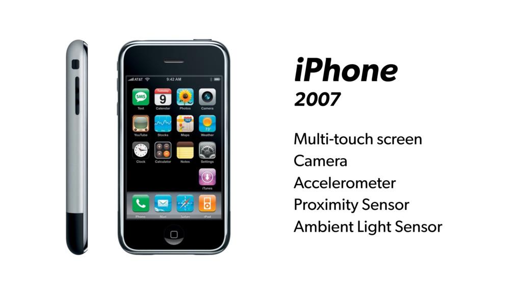 iPhone 2007 Multi-touch screen Camera Accelerom...