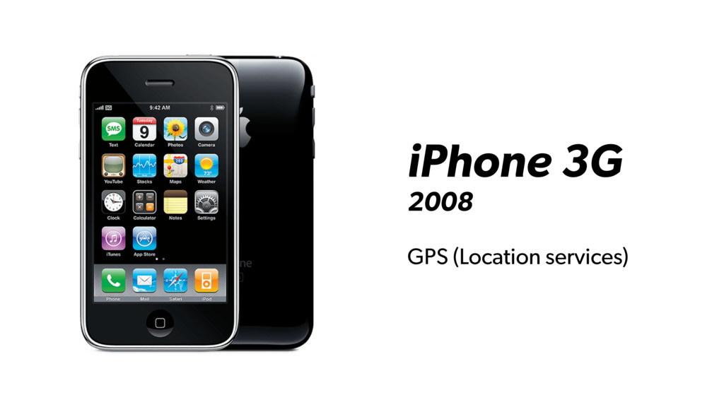 iPhone 3G 2008 GPS (Location services)