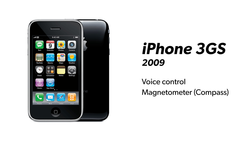 iPhone 3GS 2009 Voice control Magnetometer (Com...