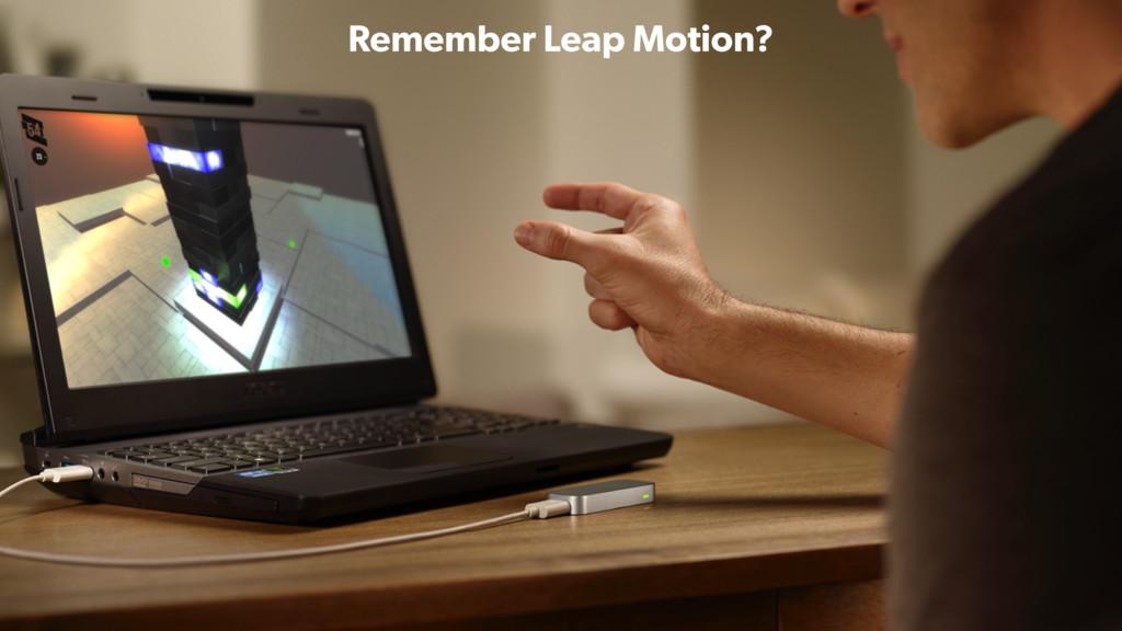 Remember Leap Motion?
