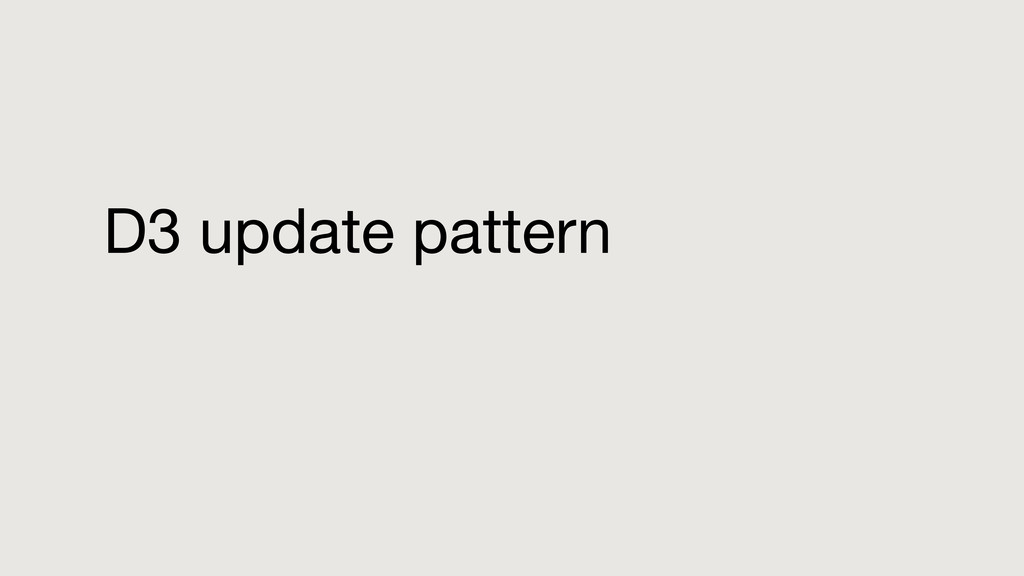 D3 update pattern