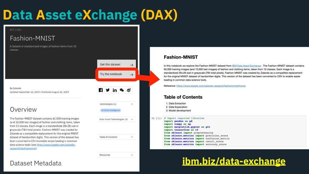 Data Asset eXchange (DAX) ibm.biz/data-exchange