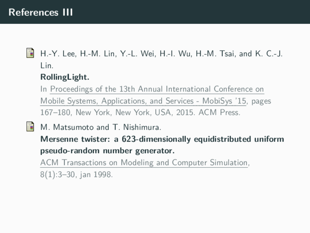 References III H.-Y. Lee, H.-M. Lin, Y.-L. Wei,...