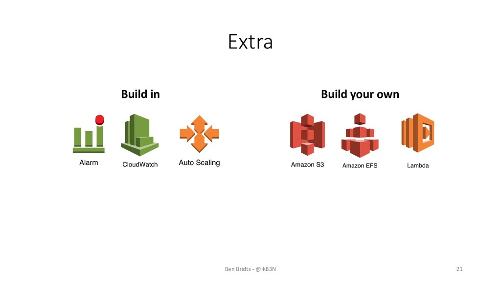Extra Build in Build your own Ben Bridts - @ikB...