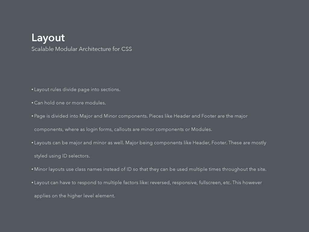 Layout Scalable Modular Architecture for CSS • ...