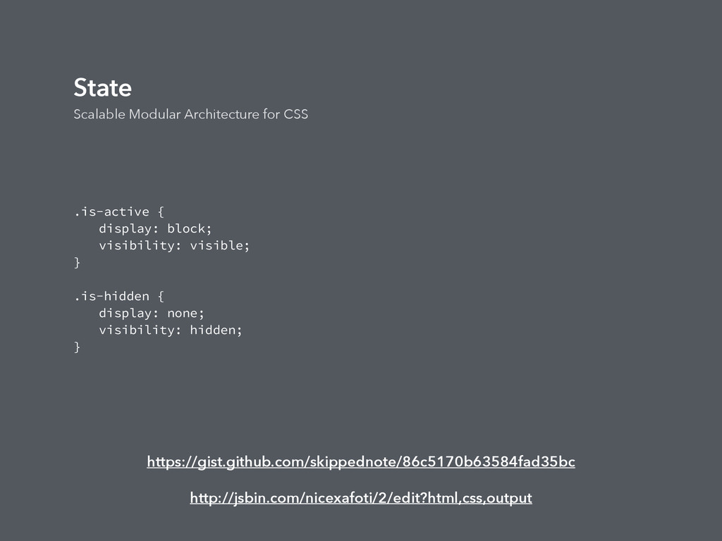 State Scalable Modular Architecture for CSS .is...