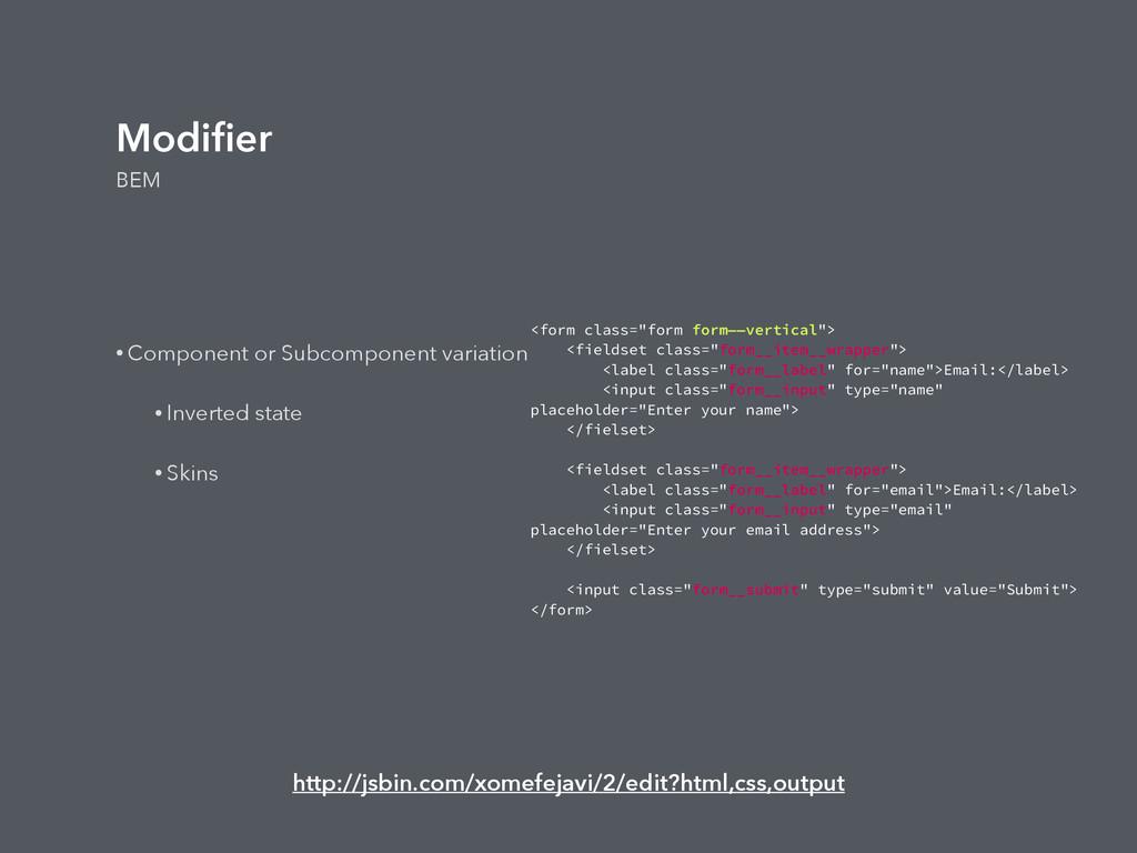 """Modifier BEM <form class=""""form form——vertical""""> ..."""