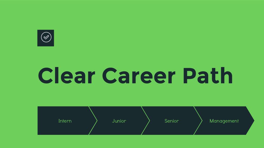 Clear Career Path Intern Junior Senior Manageme...