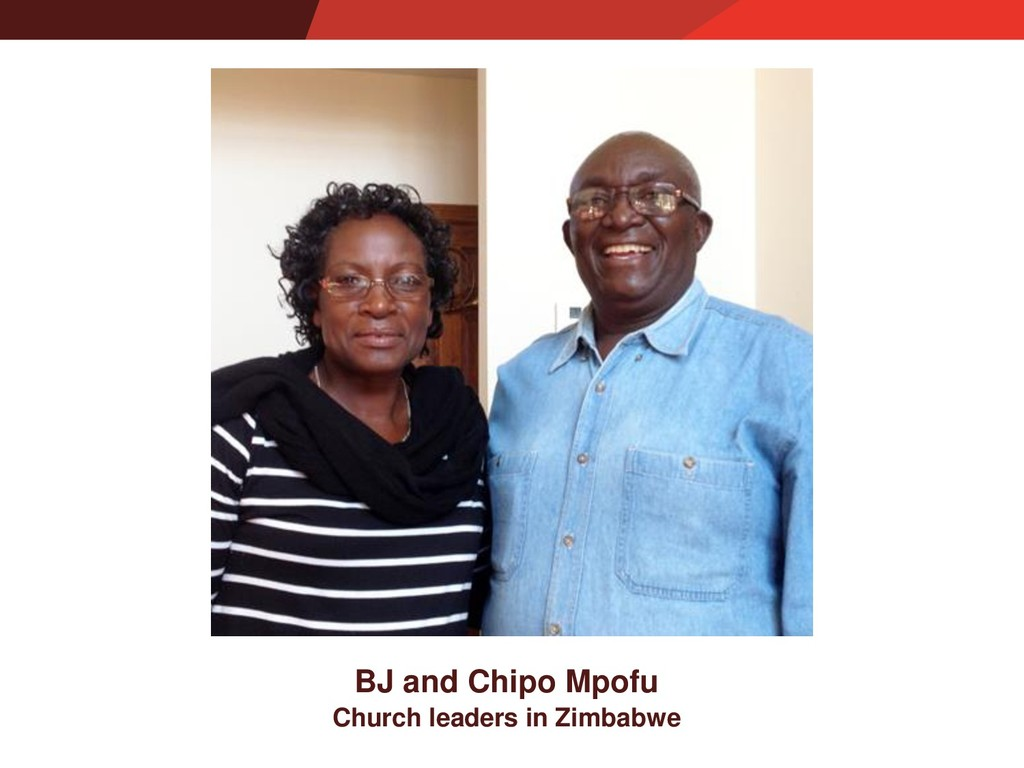 Church leaders in Zimbabwe BJ and Chipo Mpofu