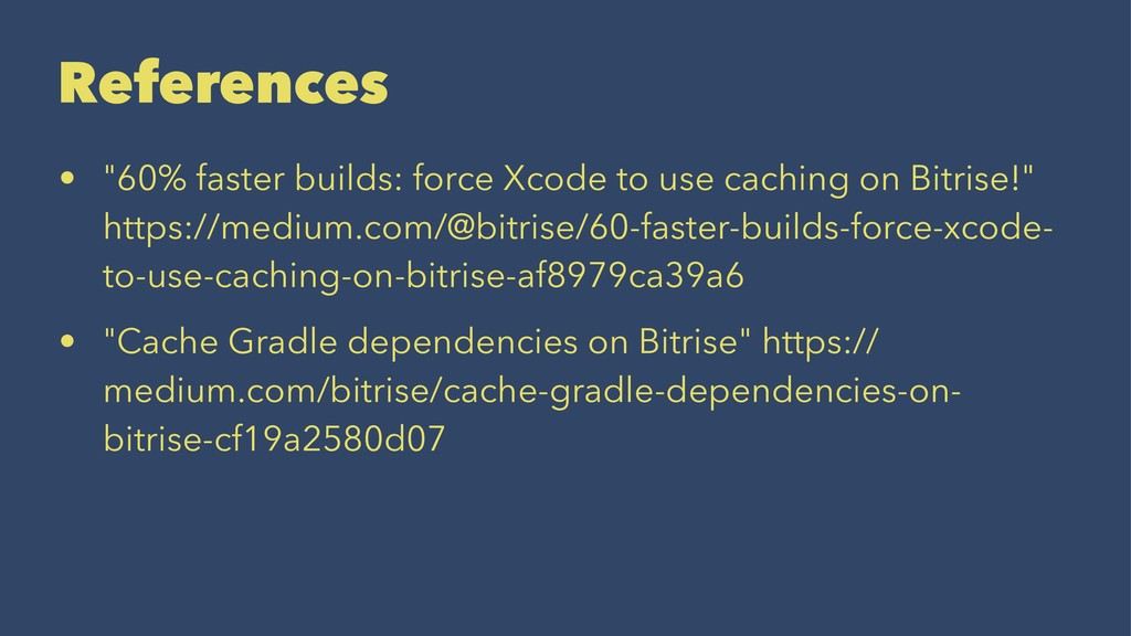 "References • ""60% faster builds: force Xcode to..."
